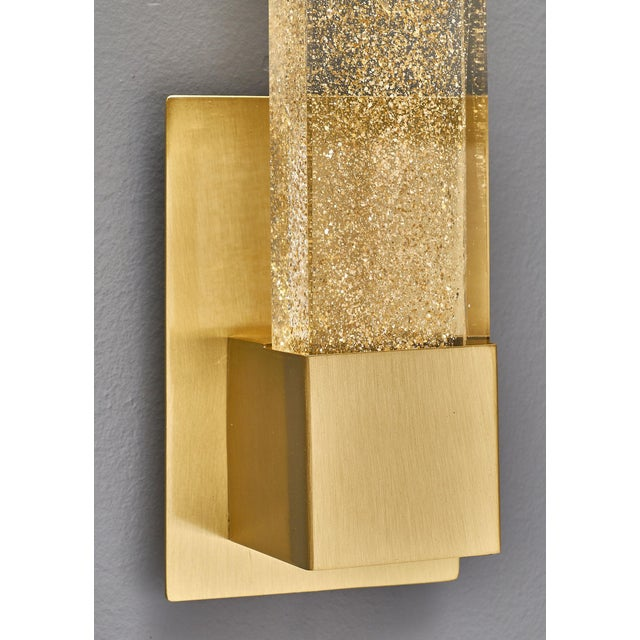 Gold Murano Glass Modern Slab Sconces For Sale - Image 8 of 11