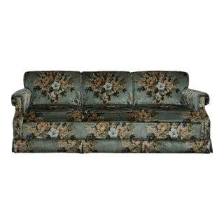 Vintage Floral Ethan Allen Sleeper Sofa For Sale