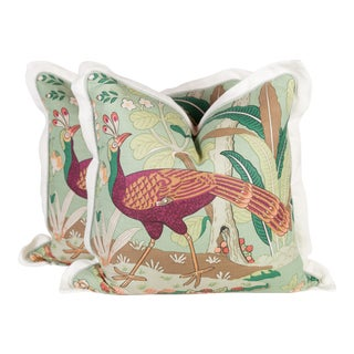 Brunschwig & Fils Guilin Chinoiserie Pillows, a Pair