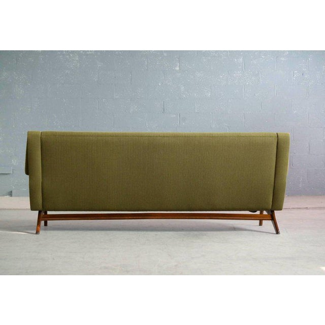 Green Danish Midcentury Sofa in Wool and Teak by Erhardsen and Erlandsen for Eran For Sale - Image 8 of 10