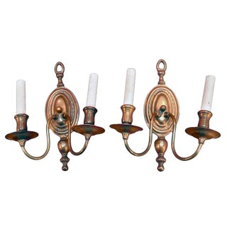 Copper Wall Sconces - A Pair