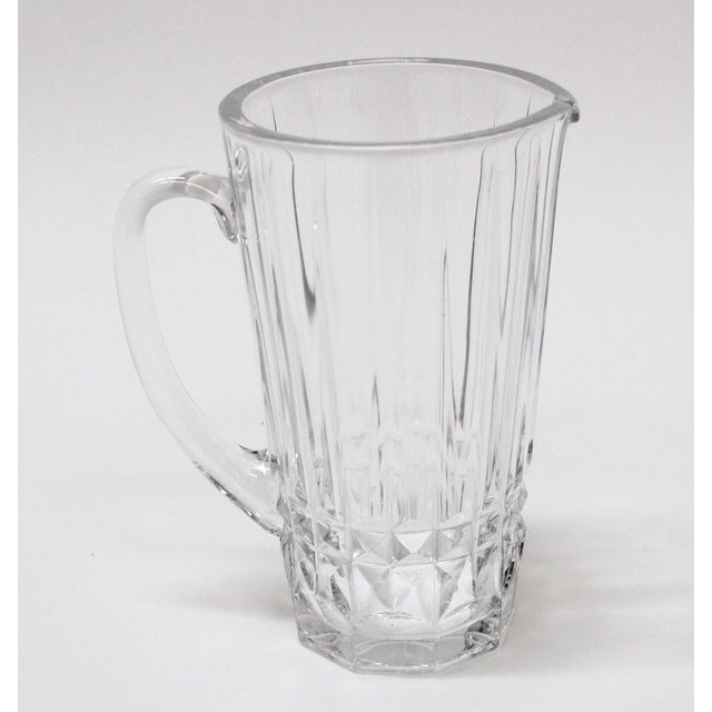 Beautiful 30 oz. Val St. Lambert crystal pitcher. Signed on the bottom.