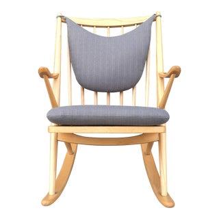 Frank Reenskaug for Bramin Mobler Rocking Chair in Grey For Sale