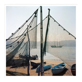 """Slim Aarons, """"Fishing Boats,"""" January 1, 1952 Getty Images Gallery Framed Art Print For Sale"""