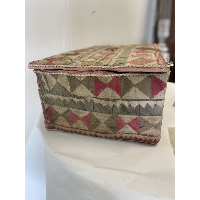 Early 21st Century Antique Katha Quilt Box For Sale - Image 5 of 12