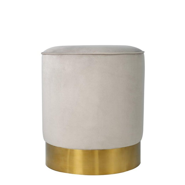 Contemporary Gray & Gold Stool - Image 3 of 3