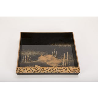Japanese Black and Gold Lacquered Tray Preview