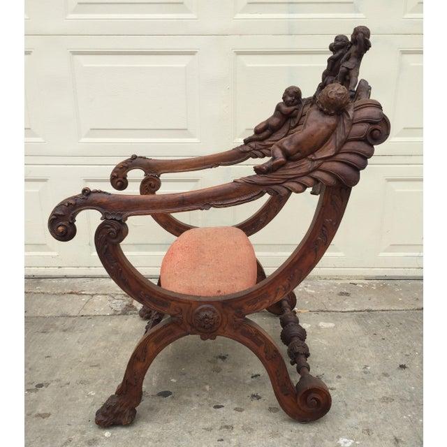 Antique Italian Savonarola Chair - Image 9 of 9