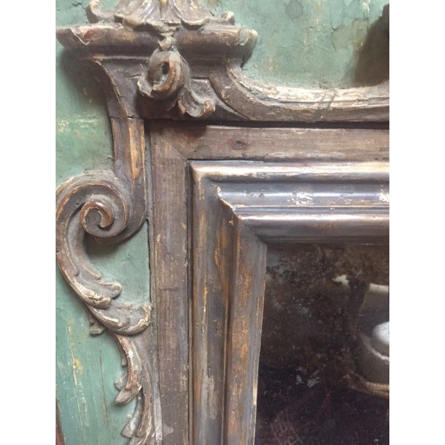 Late 18th Century Late 18th Century Italian Green & Gold Mirror For Sale - Image 5 of 12