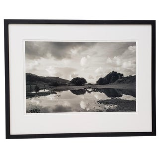 """Marty Knapp """"Tomales Bay Wetlands"""" Black and White Photograph Signed C.2018 For Sale"""