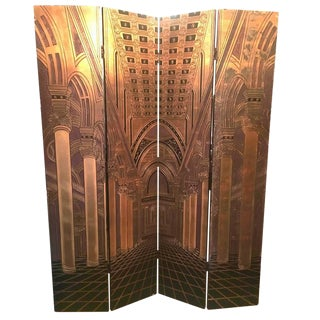 Carved Deco Panel Architectural Screen For Sale