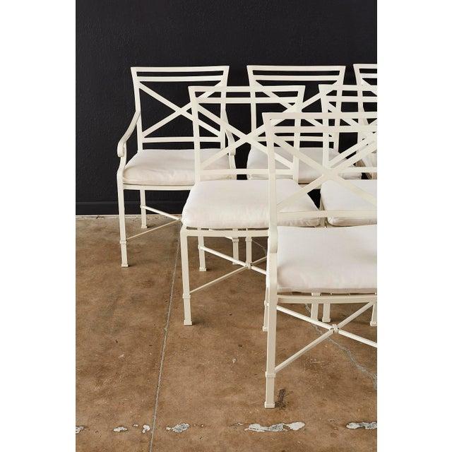 Brown Jordan Set of Six Brown Jordan Aluminium Patio Garden Chairs For Sale - Image 4 of 13