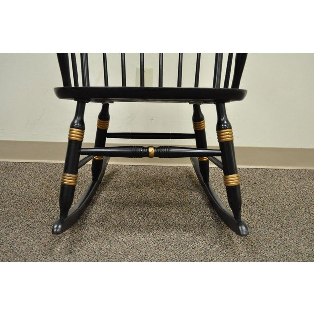 Vintage Sigill College University Nichols & Stone Windsor Rocking Chair Rocker For Sale - Image 5 of 11