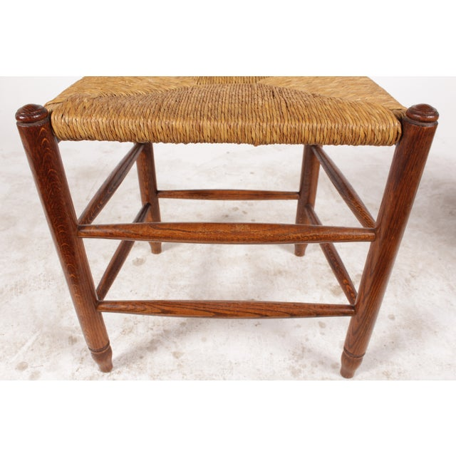 19th-C. English Rush Seat Dining Chairs - S/4 - Image 7 of 8