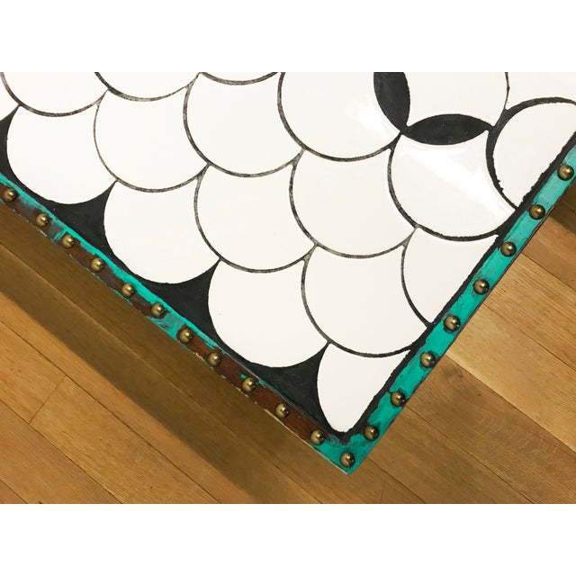 Asian Tile Top Coffee Table For Sale - Image 3 of 13