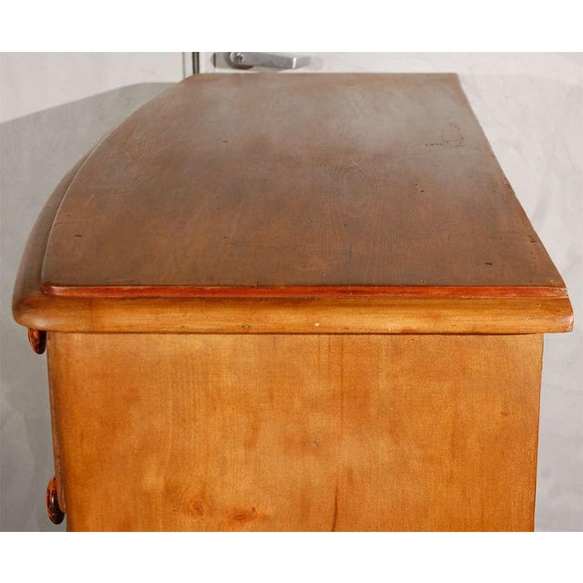 Antique Bowfront Chest of Drawers For Sale - Image 5 of 7