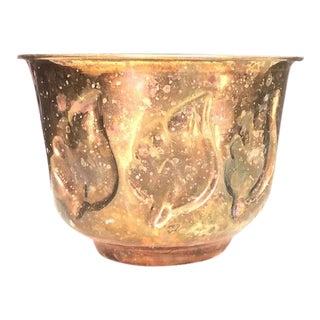 Brass Leaf Planter Pot For Sale
