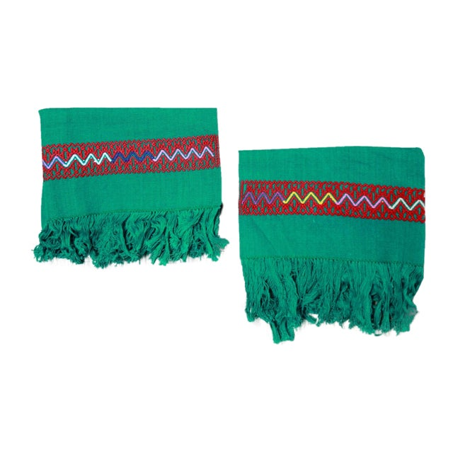 Hand-Woven Chiapas Placemats - Pair For Sale