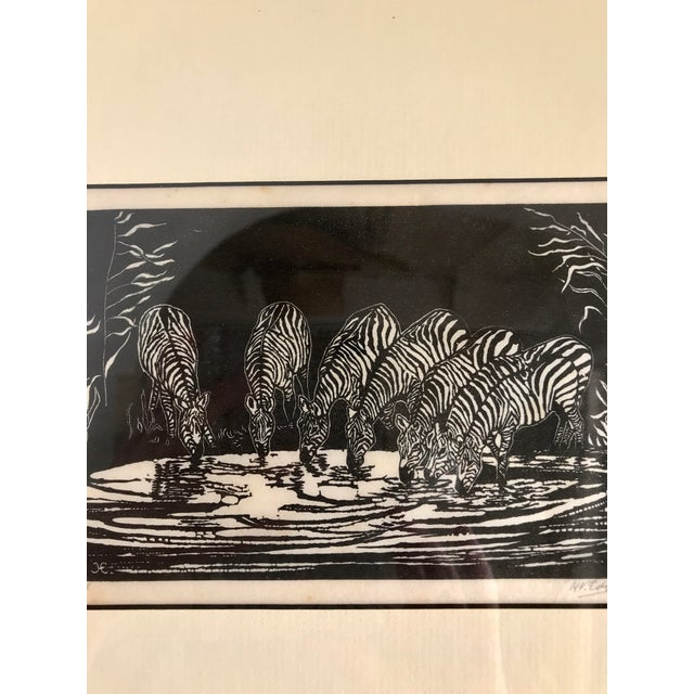 1928 Signed Zebra Lithograph - Image 8 of 10