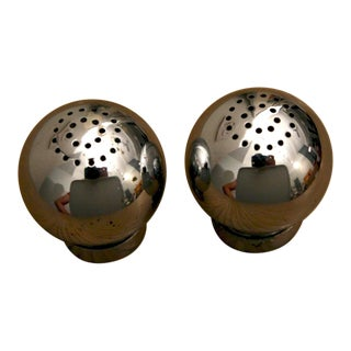 Russel Wright Chrome Shakers for Chase, a Pair For Sale