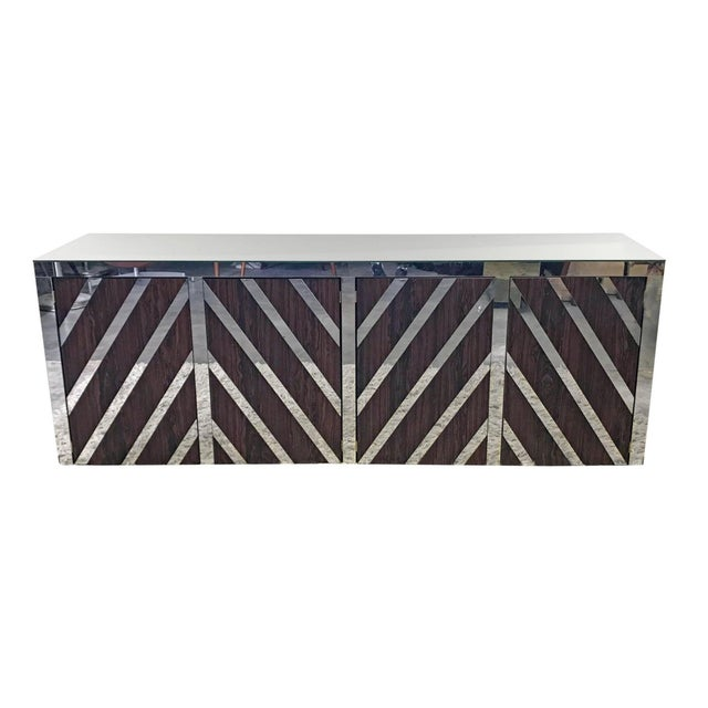 Rosewood and Mirrored Credenza For Sale In Las Vegas - Image 6 of 6