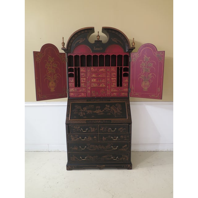 Chinoiserie Decorated Secretary Desk With Fitted Interior For Sale - Image 13 of 13