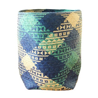 Borneo Sea Breeze Grande Storage Woven Straw Basket