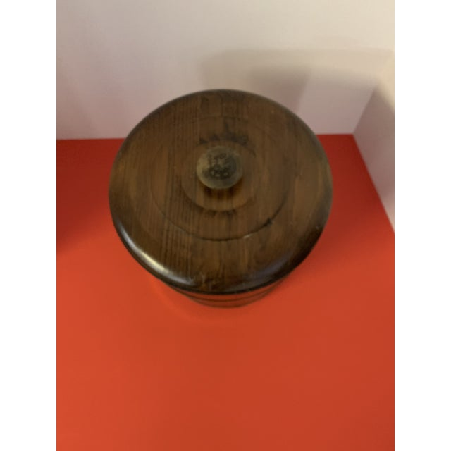 English Late 19th Century Oak Ice Bucket For Sale - Image 3 of 6