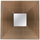 Image of Contemporary Geometric Italian Rose Bronze Murano Glass Gradient Square Mirror For Sale