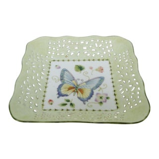 Porcelain Butterfly Catchall For Sale