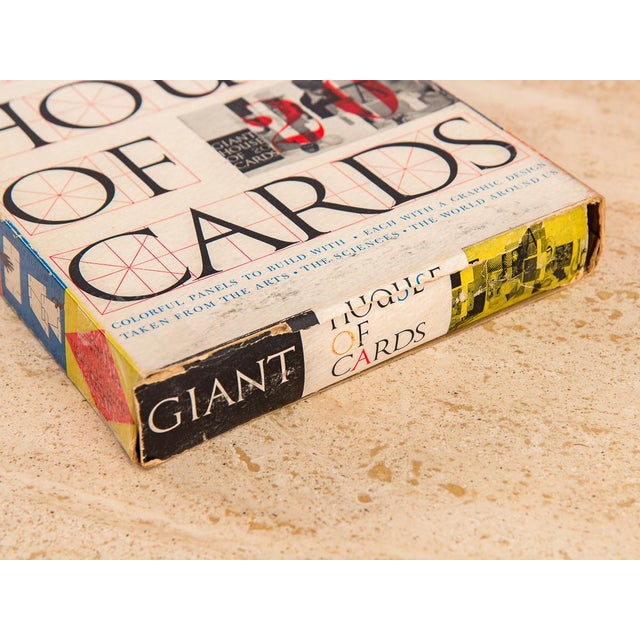 Cardboard Original 1950s Eames Giant House of Cards For Sale - Image 7 of 10
