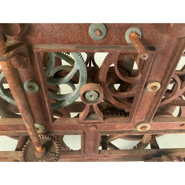 Gothic 19th Century Large Iron Clockworks For Sale - Image 3 of 10