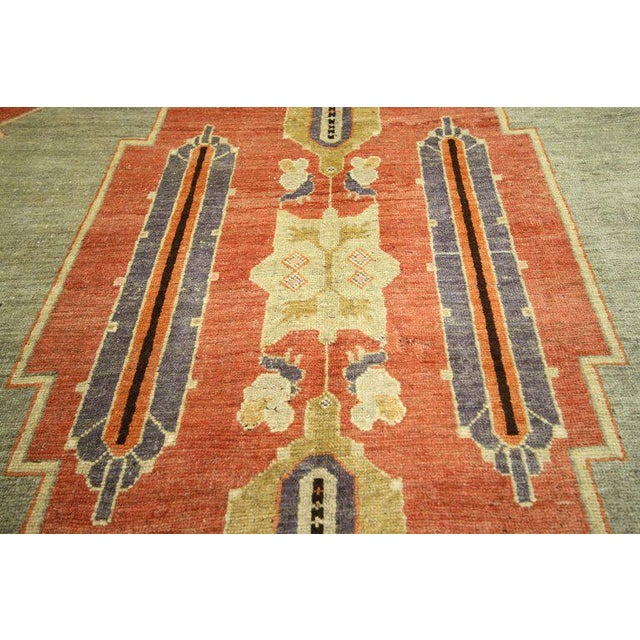 Early 20th Century Antique Caucasian Tribal Rug - 4′9″ × 9′8″ For Sale In Dallas - Image 6 of 7