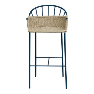 Mexa Blue Bar Stool