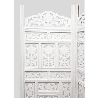 White Floral Folding Screen Preview