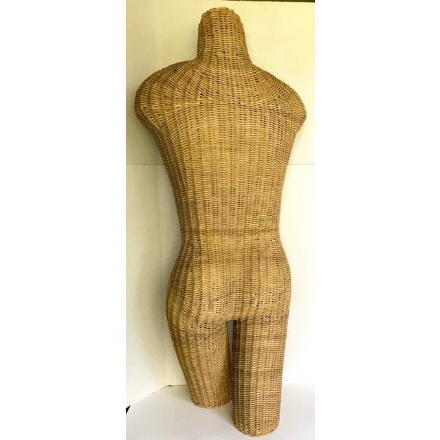 Boho Chic 1960s Vintage Wicker Torso Mannequin For Sale - Image 3 of 4