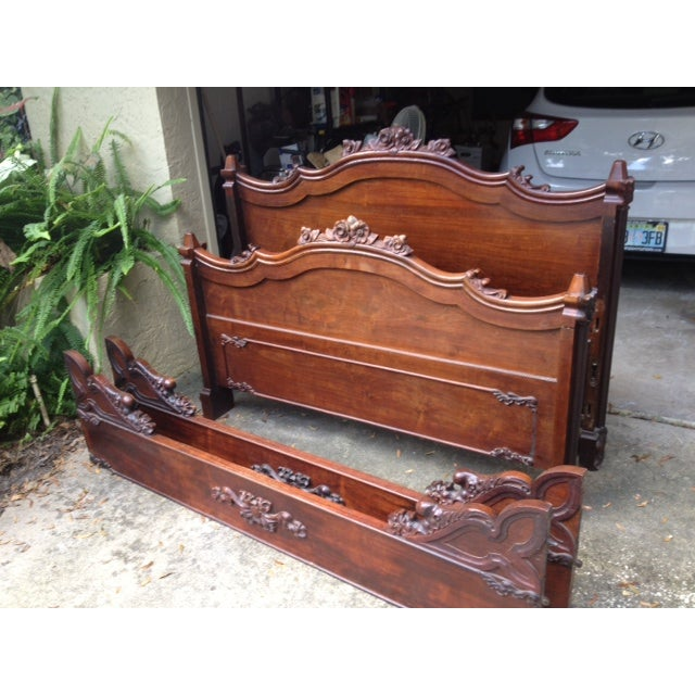 Antique Rosewood Full Bed - Image 4 of 11