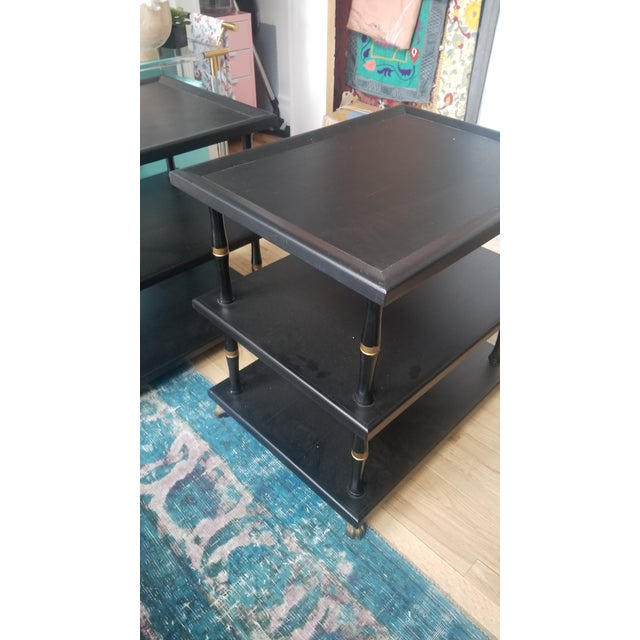 Hollywood Regency 3-Tier Side Tables - a Pair For Sale - Image 10 of 11