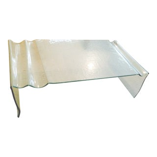 1970s Vintage Leon Rosen Pace Collection Mid-Century Modern Glass Coffee Table
