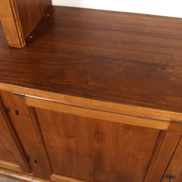 Wood 20th C. Large Italian Open Bookcase For Sale - Image 7 of 13