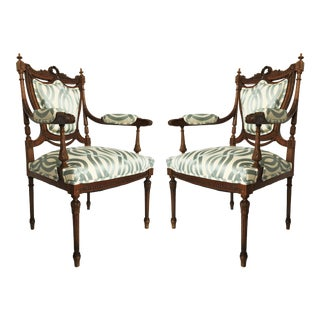 Stunning Pair of Louis XVI Chairs Attributed to Jean-Baptiste Claude Sene For Sale