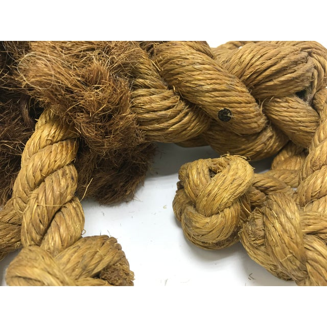 1960s Mid-Century Danish Braided Rope Lion For Sale - Image 9 of 13