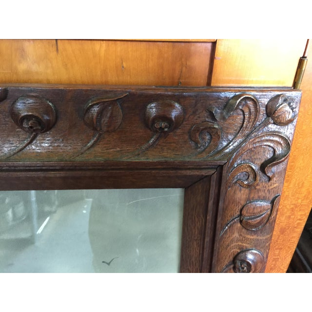 """Hand Carved Oak frame with dark finish. Excellent condition. Circa 1910, The frame is 26.5"""" wide and 32"""" tall, the image..."""