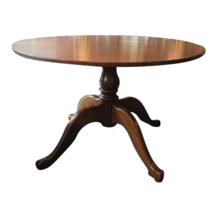 English Cherrywood Round Pedestal Table For Sale