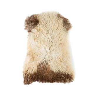 "Handmade Wool Sheepskin Pelt Rug - 2'0""x3'0"" For Sale"