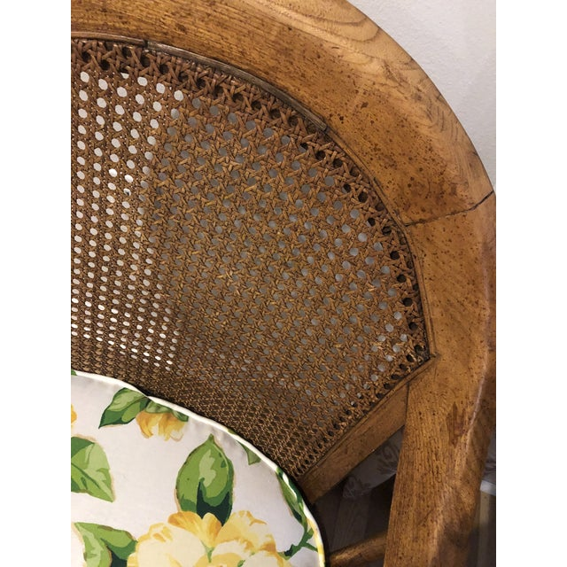 1960s Mid Century Cane Back Rolling Chairs - a Pair For Sale - Image 5 of 12