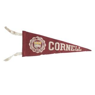 Vintage Cornell Felt Flag Pennant