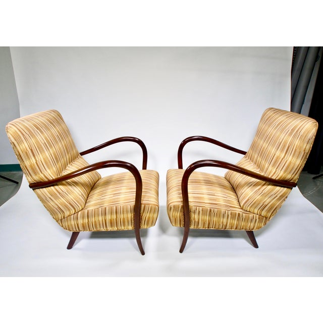 Italian Mid-Century High Back Chairs - A Pair - Image 2 of 10