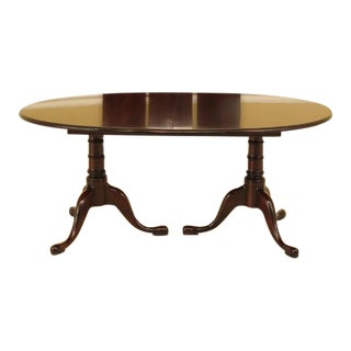 Statton Stratford Cherry Pedestal Dining Table For Sale