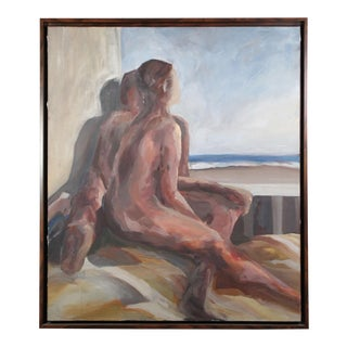 Nude Couple Overlooking Beach Painting For Sale